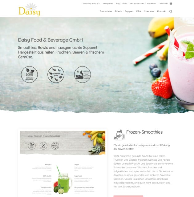 Daisy Smoothies und Suppen
